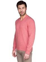 Джемпер V-вырез Brunello Cucinelli 72302 100%кашемир Розовый Италия изображение 2