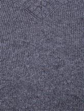 Джемпер V-вырез Brunello Cucinelli 72302 100%кашемир Темно-серый Италия изображение 4
