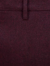 Брюки EREDA SC\01 93% шерсть, 6% кашемир, 1% эластан Бордовый Италия изображение 5