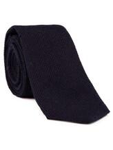 Галстук Brunello Cucinelli 0018 65% шерсть, 35% шёлк Темно-синий Италия изображение 1