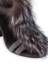Туфли Brunello Cucinelli 330 100% кожа Темно-коричневый Италия изображение 5