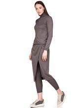 Платье Brunello Cucinelli 825A84 70%кашемир 30%шёлк Серо-коричневый Италия изображение 0