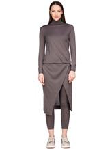 Платье Brunello Cucinelli 825A84 70%кашемир 30%шёлк Серо-коричневый Италия изображение 1