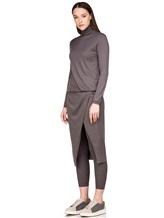 Платье Brunello Cucinelli 825A84 70%кашемир 30%шёлк Серо-коричневый Италия изображение 2