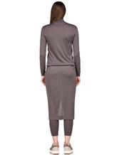 Платье Brunello Cucinelli 825A84 70%кашемир 30%шёлк Серо-коричневый Италия изображение 3
