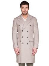 Пальто Brunello Cucinelli 9067M 96% шерсть, 4% кашемир Бежевый Италия изображение 1