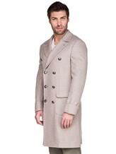 Пальто Brunello Cucinelli 9067M 96% шерсть, 4% кашемир Бежевый Италия изображение 2