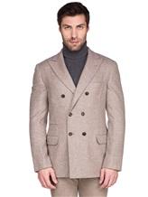 Пиджак Brunello Cucinelli 7BPD 80% шерсть, 17% шёлк, 3% кашемир Бежевый Италия изображение 2
