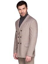 Пиджак Brunello Cucinelli 7BPD 80% шерсть, 17% шёлк, 3% кашемир Бежевый Италия изображение 3