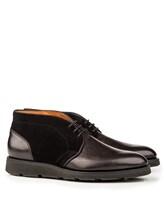Ботинки Santoni MCC014403 100% кожа Антрацит Италия изображение 0