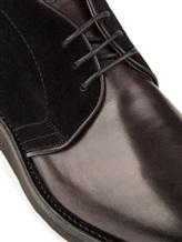 Ботинки Santoni MCC014403 100% кожа Антрацит Италия изображение 5