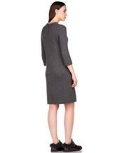 Платье Brunello Cucinelli 539A80P 80% кашемир, 20% шёлк Темно-серый Италия изображение 3